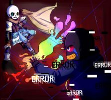 Ink!Sans and Error!Sans by SalysaBoxface