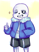 undertale sans by h-reshii