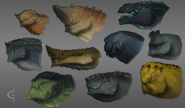 Monster busts by Earl-Graey