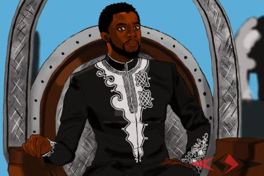 King T'challa by SalyLockheart