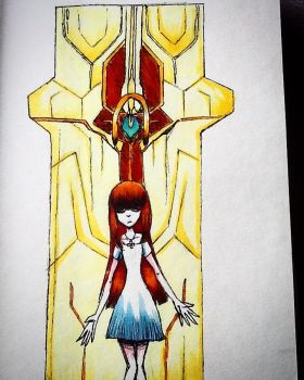 -old Xenosaga fanart- Nephilim [Copic] by Demon-Seahorse