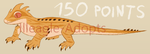 Striped Orange Lizard Adopt CLOSED (150 POINTS) by Illeagle-Adopts