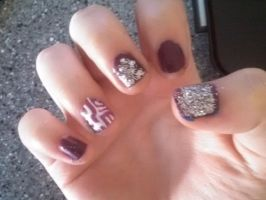 Shield Inspired Nails by Ahtilak