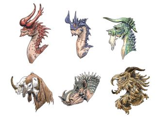 Dragon heads by eoghankerrigan