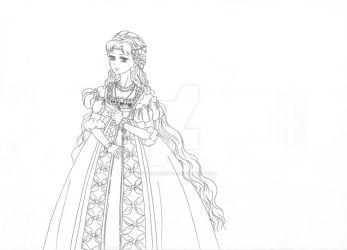 Lala in Renaissance dress by janediamond2901