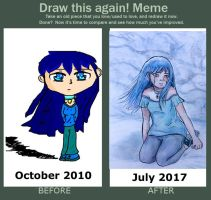 Draw This Again Meme: Blue Girl by TheWizardAlchemist