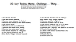 20 Day Touhou Meme 'Challenge' by headstert