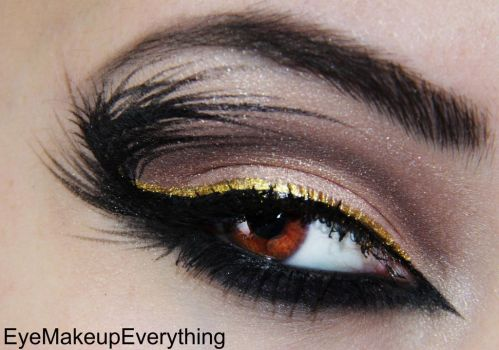 Feathers and gold by EyeMakeupEverything