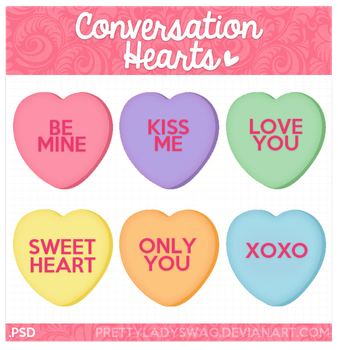 Conversation Hearts by PrettyLadySwag
