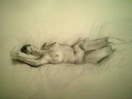 Figure Drawing by Karaul