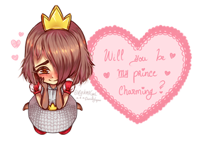 [Clash Royale] Be my prince -Valentine's Day card by Daniela-Arts