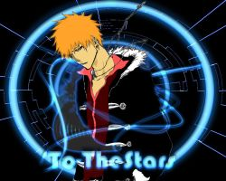 Bleach Kurosaki Ichigo Neon Wallpaper by To-TheStars