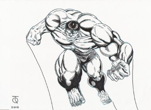 Hulk Leaping Ink by TyndallsQuest