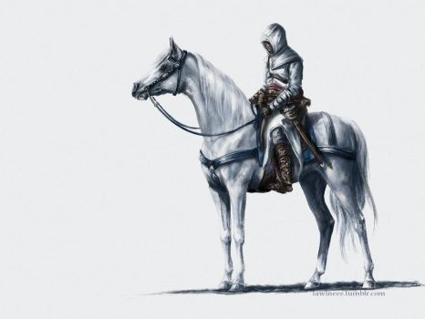 Altair + Horse by the-frozen-bunny