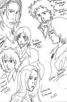 Sketches: Ezio's Apprentices by RunaMagus