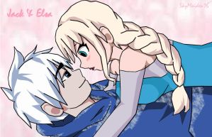 Accidentally Tripped - Jelsa (Jack Frost x Elsa) by SkyMaiden16