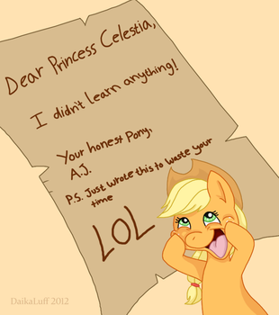 Award for best letter goes to... by DaikaLuff