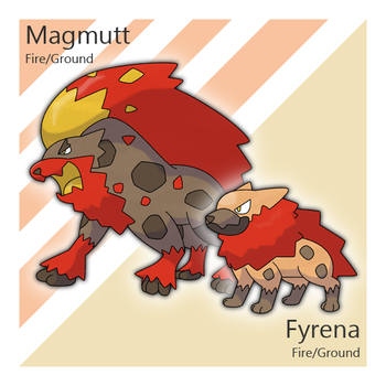 Fyrena and Magmutt by Tsunfished