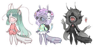 Slugoii and Xynslug Themed Adopts CLOSED by SLUGOIIS