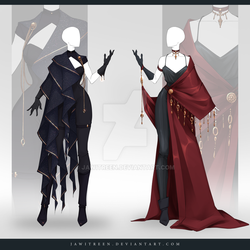 (CLOSED) Adoptable Outfit Auction 292-293 by JawitReen