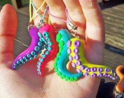 Tentacle Charms by MaryBunnie