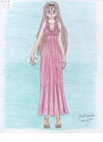 Ayame in long dress (Remake) by twarrior25