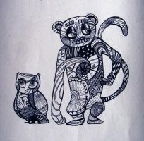 ape and owl by tiivik