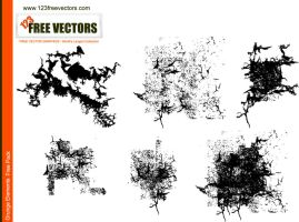 Vector Grunge Elements by 123freevectors