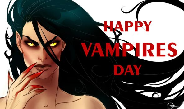 Happy vampires day by Ozarielle