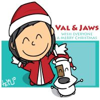 Val n Jaws Christmas greeting by parka