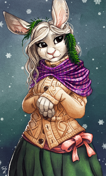 Winter Bunbun by TasDraws