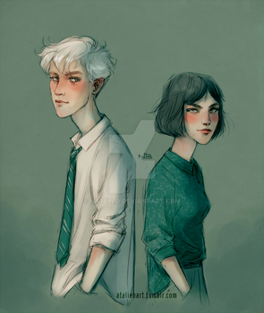 Draco and Pansy by Natello