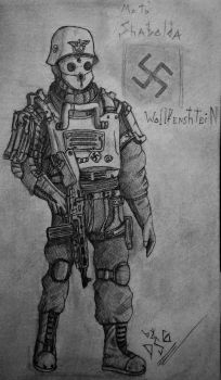 Wolfenstein: The Old Blood - Nazi solider by angor7a