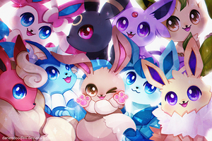 Eeveelution Family by DarienDoodles