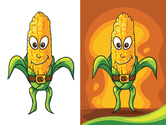 Free vector corn character by pixaroma