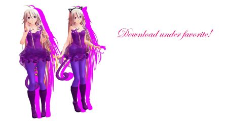 MMD TDA Cat Dress IA (DL) by Solastraza