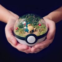 Snorlax Poke Ball Terrarium by TheVintageRealm