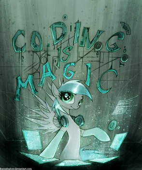 Coding is Magic by FoxInShadow