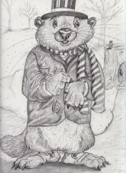 Phil the Groundhog by Frodo-Lion