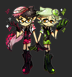 Squid sister genderbend by ANJAP93