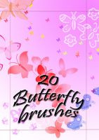 20 Butterfly Brushes by PokeHeart