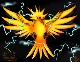 #145- Zapdos by UxieSweetie