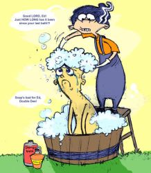 Bath time for Ed by AbildT