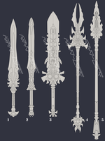 Lineart Weapon Adopts 6 (closed) High Res! by Nano-Core