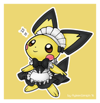 Pichu maid by Alin-the-Dog