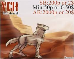 Auction | Into desert YCH by Monstaria