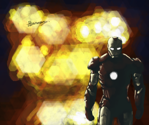 Iron Man Doesn't Look at Explosions by Over9000Desu
