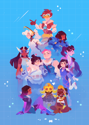 Overwatch Girls by ieafy