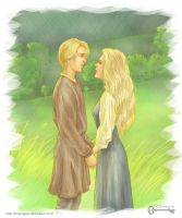 The Princess Bride: Westley and Buttercup by mseregon