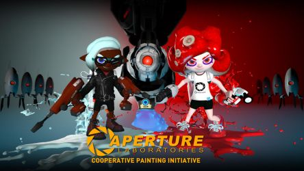 Aperture Science Cooperative Painting Initiative by Diegotheartist1